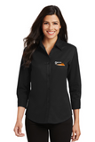 Border Tire Ladies 3/4-Sleeve Easy Care Full-Button Shirt