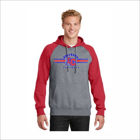 "LCHS Football ""LC"" Logo Colorblock Pullover Hoodie"
