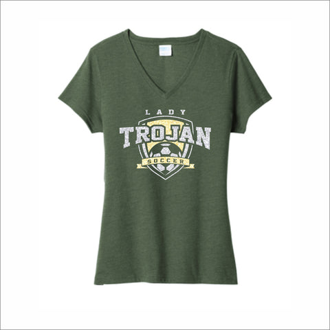 Mayfield Lady Trojans Soccer Ladies' Glitter V-Neck Tee