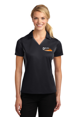 Border TIre Official Uniform Ladies' Side Blocked Micropique Performance Polo