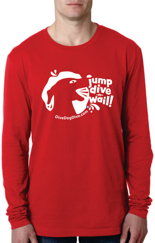 Jump Dive Wail Unisex Cotton Long-Sleeve Tee