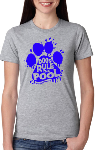 Dogs Rule The Pool Ladies' Cotton Tee