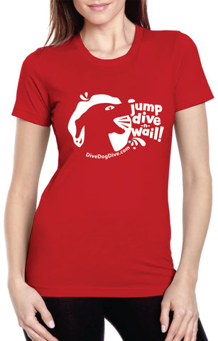 Jump Dive Wail Ladies' Cotton Tee