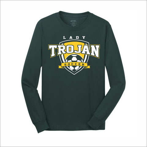 Mayfield Lady Trojans Soccer Long-Sleeve Cotton Tee