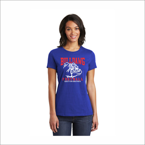 "LCHS Football ""Quest"" Logo Women's Cotton Tee"