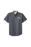 Border Tire Easy Care Full-Button Shirt