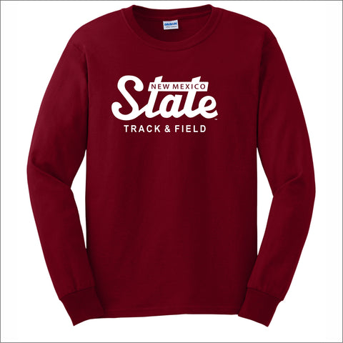 NMSU Track and Field State Long-Sleeve Unisex Cotton Tee