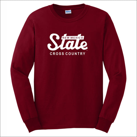 NMSU Cross Country State Long-Sleeve Unisex Cotton Tee