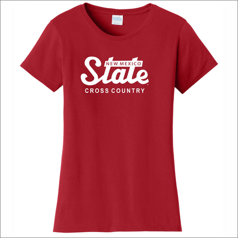 NMSU Cross Country State Ladies' Cotton Tee