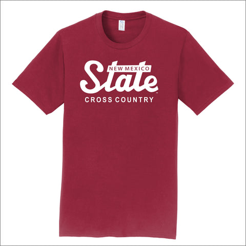 NMSU Cross Country State Unisex Cotton Tee