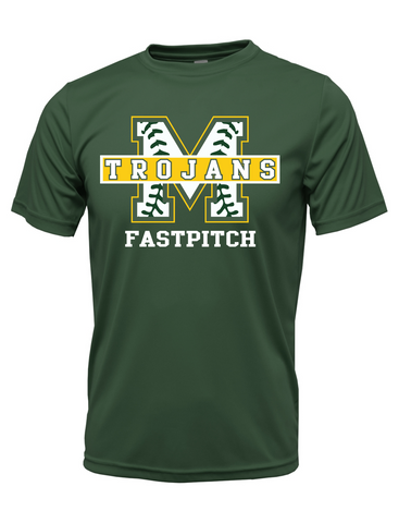 "MHS Softball ""Trojans Fastptich"" Logo Performance Tee"