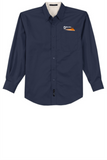 Border Tire Tall Long-Sleeve Easy Care Full-Button Shirt