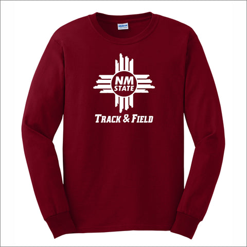 NMSU Track and Field Zia Long-Sleeve Unisex Cotton Tee
