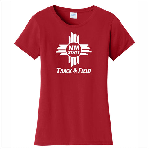 NMSU Track and Field Zia Ladies' Cotton Tee