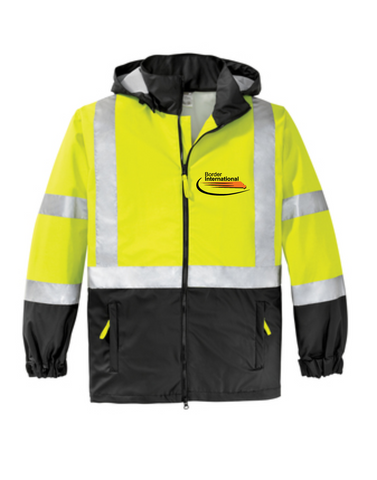 Border International ANSI 107 Class 3 Safety Windbreaker