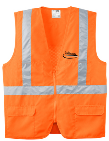 Border International ANSI 107 Class 2 Mesh Back Safety Vest