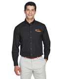 Border Tire Crown Woven Collection™ Solid Broadcloth Full-Button Shirt