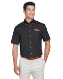 Border Tire Crown Woven Collection™ Solid Broadcloth Short-Sleeve Full-Button Shirt