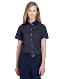 Idealease Ladies' Crown Woven Collection™ Solid Broadcloth Short-Sleeve Full-Button Shirt