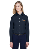 Border International Ladies' Crown Woven Collection™ Solid Broadcloth Full-Button Shirt