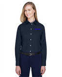 Idealease Ladies' Crown Woven Collection™ Solid Broadcloth Full-Button Shirt