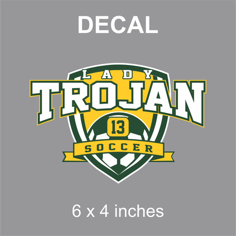Mayfield Lady Trojans Soccer Decal