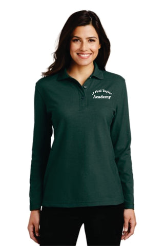 J. Paul Taylor Academy Ladies' Long-Sleeved Uniform Polo