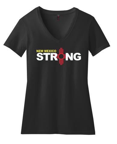 New Mexico Strong Ladies' V-Neck Tee