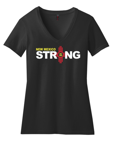 New Mexico Strong EST Ladies' V-Neck Tee