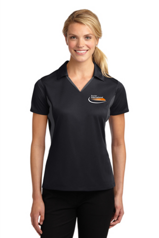 Border International Official Uniform Ladies' Side Blocked Micropique Performance Polo
