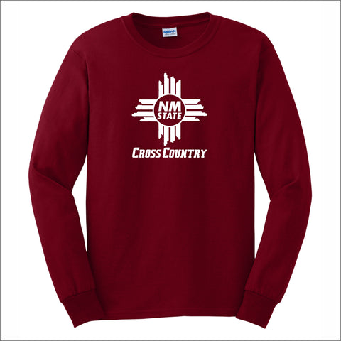 NMSU Cross Country Zia Long-Sleeve Unisex Cotton Tee