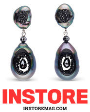 InStore magazine little h pearl earrings