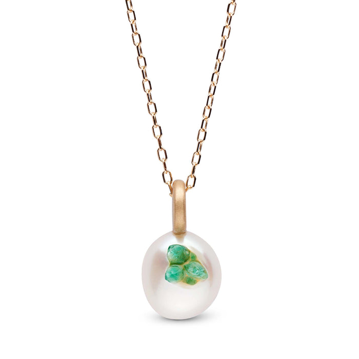 Emerald Point Pearl Mini Pendant