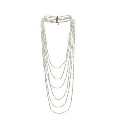 6 Strand Baby Freshwater Necklace