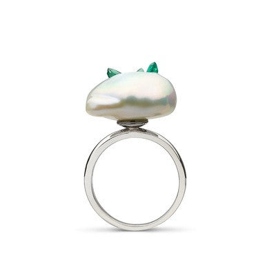 Grotto Collection Emerald Ring