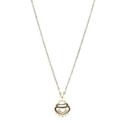 Canary Diamond Baroque Pearl Pendant