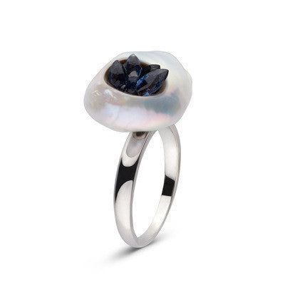 Blue Sapphire Grotto Ring