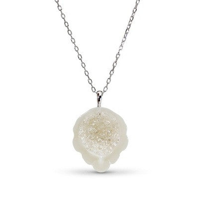 White South Sea Pearl and Diamond Geode Pendant