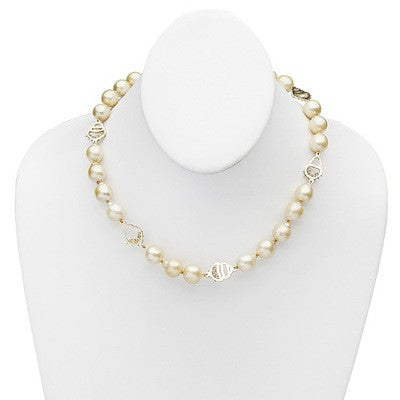 Baroque Golden South Sea Pearl Necklace