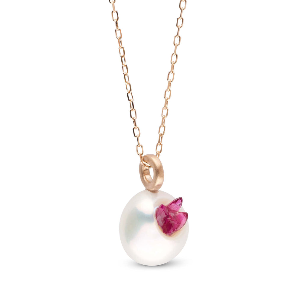 Ruby Point Pearl Mini Pendant