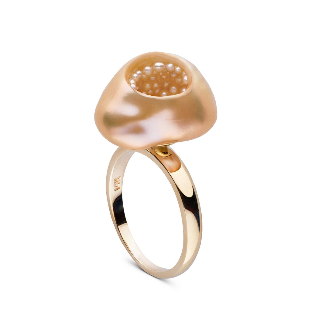 Seed Pearl Finestrino Ring