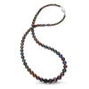 Classic Graduated Strand of Peacock Black Gem Grade Pearls