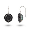 Tahitian Pearl and Black Diamond Geode Earrings