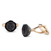 Tahitian Pearl and Black Diamond Cufflinks