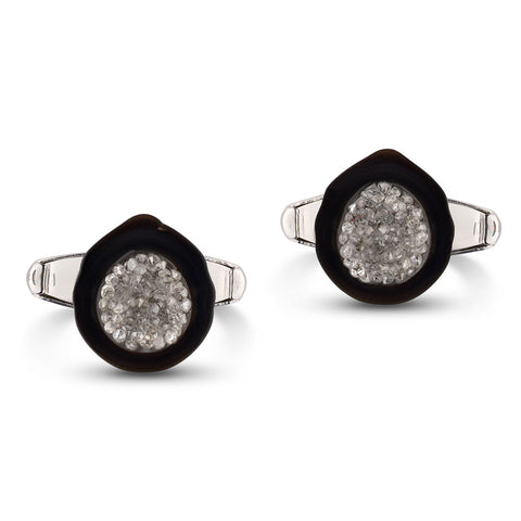 Tahitian Pearl and White Diamond Cufflinks