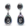 Tahitian Grotto Black Diamond Earrings