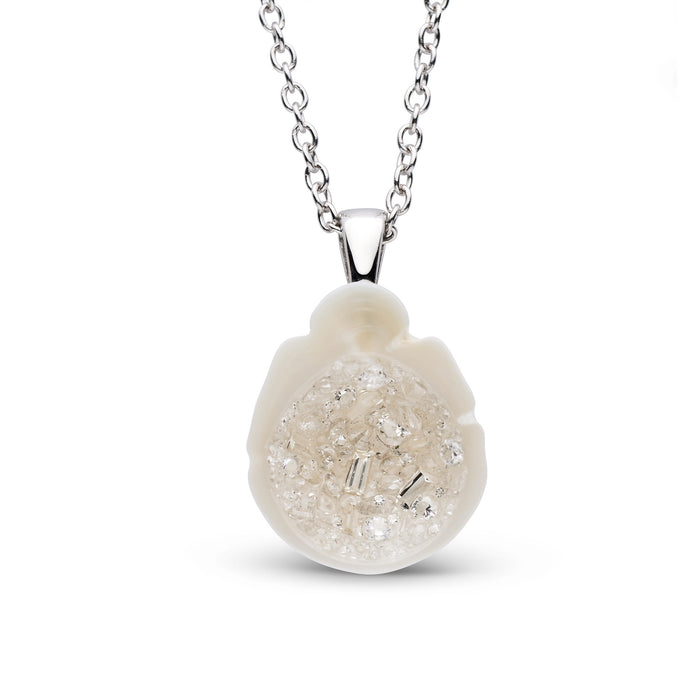White South Sea Pearl and Mixed Diamonds Pendant