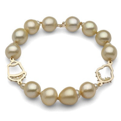 Baroque Golden South Sea Pearl Bracelet