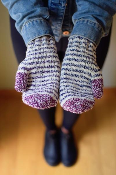 How to Stripe your Gradient Twist Mitten Kit or Any Mittens!