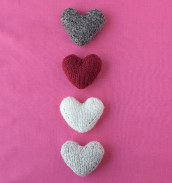 Little Hearts Free Pattern Barrett Wool Co